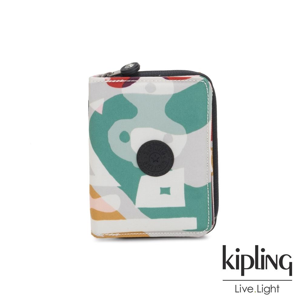 Kipling 音樂派對幾何塗鴉短夾-MONEY LOVE