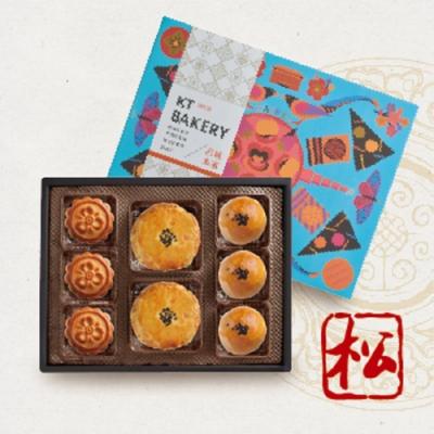 君城本家 廣御松禮盒(麻糬3Q餅+棗泥核桃小廣月餅+烏豆沙蛋黃酥)
