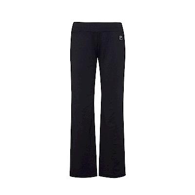 FILA女萊卡針織長褲-黑 5PNS-5606-BK