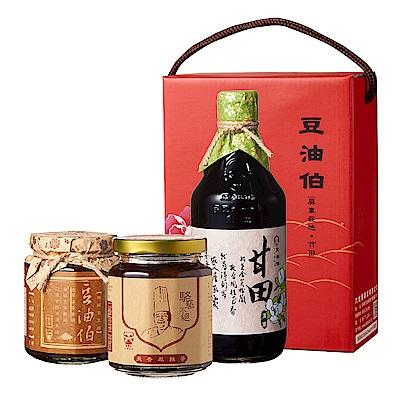 豆油伯 天香辣辣拌醬牡丹禮盒(3入/盒)