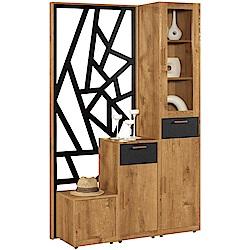 文創集 范斯時尚4尺實木鞋櫃/屏風櫃-120.3x40x200cm免組