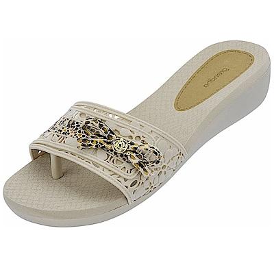 GRENDHA 可愛蝴蝶結超軟中底鞋-白
