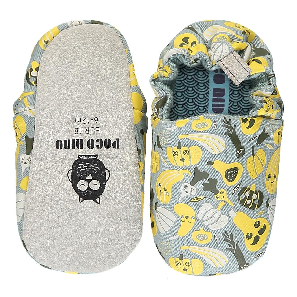 英國 POCONIDO 手工嬰兒鞋 (開心農場 - 淺灰)