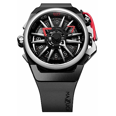 MAZZUCATO RIM高工藝義式美學翻轉機械石英腕錶/01-BK186