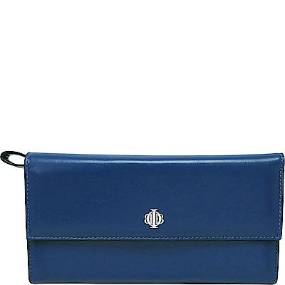 OBBI LAI 藍色小羊皮長夾皮夾錢包