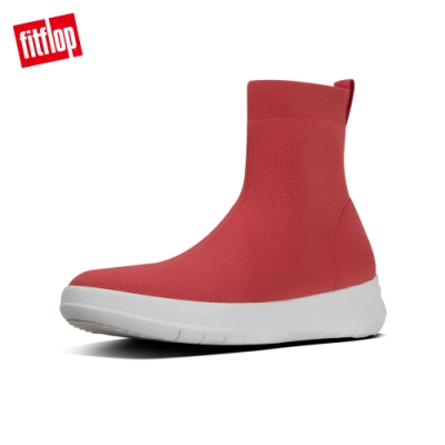 FitFlop UBERKNIT HIGH-TOP SNEAKERS襪套靴-女(熱情紅)