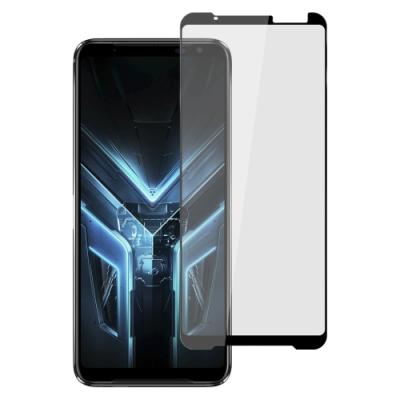 【Ayss】ASUS ROG Phone 3/6.59吋/2020/平面滿版全膠/玻璃鋼化保護貼膜/四邊弧邊-黑