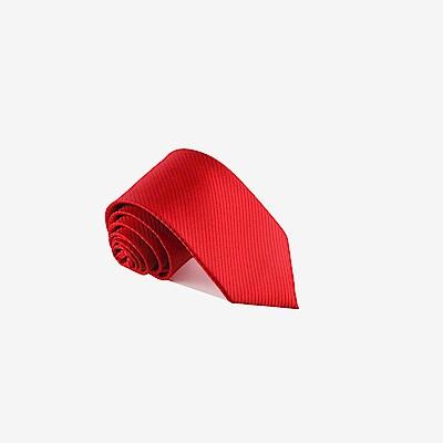 拉福   斜紋領帶6cm中窄版領帶拉鍊領帶 (大紅)