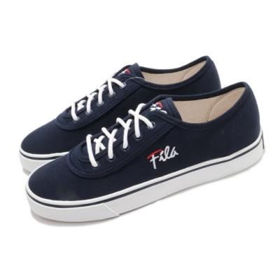 Fila 休閒鞋 C917U 帆布鞋 女鞋 斐樂 基本款 穿搭推薦 百搭 藍 白 5C917U311