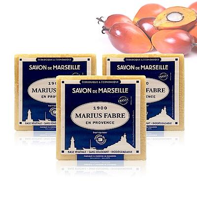 法國法鉑-棕櫚油經典馬賽皂-400g/顆(3入組)