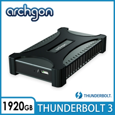 archgon X70 II外接式固態硬碟Thunderbolt 3-1920GB -曜石黑