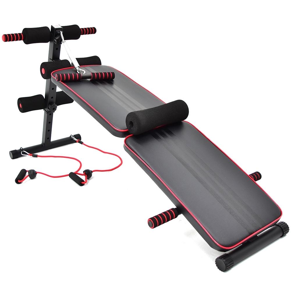 加長款仰臥起坐板(送彈力繩+防護墊) 仰板健腹機
