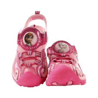 迪士尼冰雪奇緣授權護趾防撞閃燈運動涼鞋 sa04143 魔法Baby