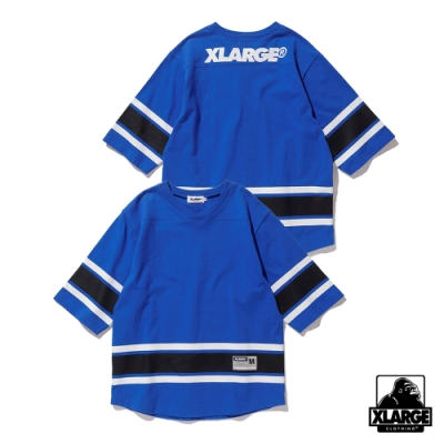 XLARGE LINED HOCKEY TEE短袖T恤-藍