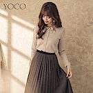 東京著衣-yoco 柔美細膩珍珠排釦蝴蝶結長袖上衣-S.M.L(共一色)