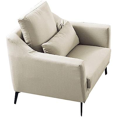 品家居 瑟尼北歐風緹花布單人座沙發椅-93x102x93cm免組