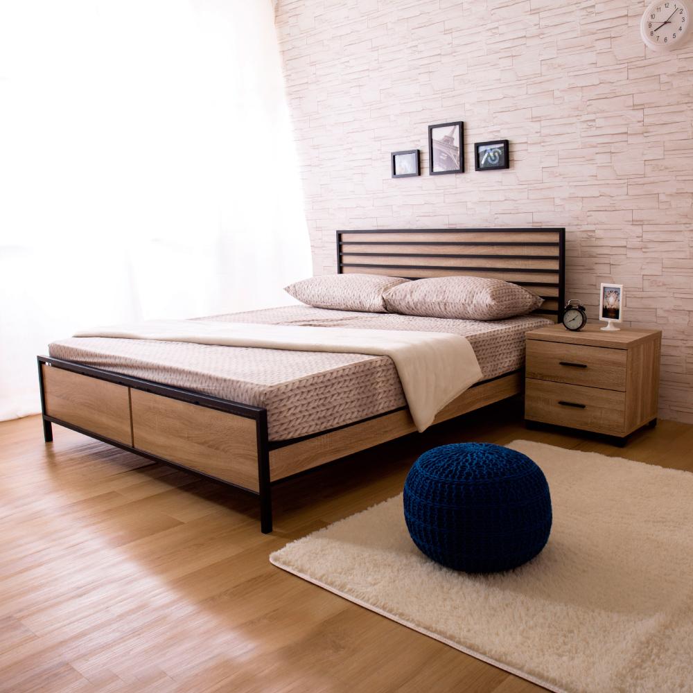 AS-麗雅北原橡木6尺床台(買就送床頭櫃)