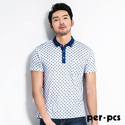 per-pcs 經典低調格紋休閒POLO衫(716502)