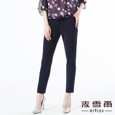 【麥雪爾】腰側打摺造型鈕扣九分西裝褲