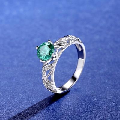 米蘭精品 莫桑鑽戒指925純銀銀飾-1ct復古巴洛克鏤空情人節生日禮物女飾品73yk89