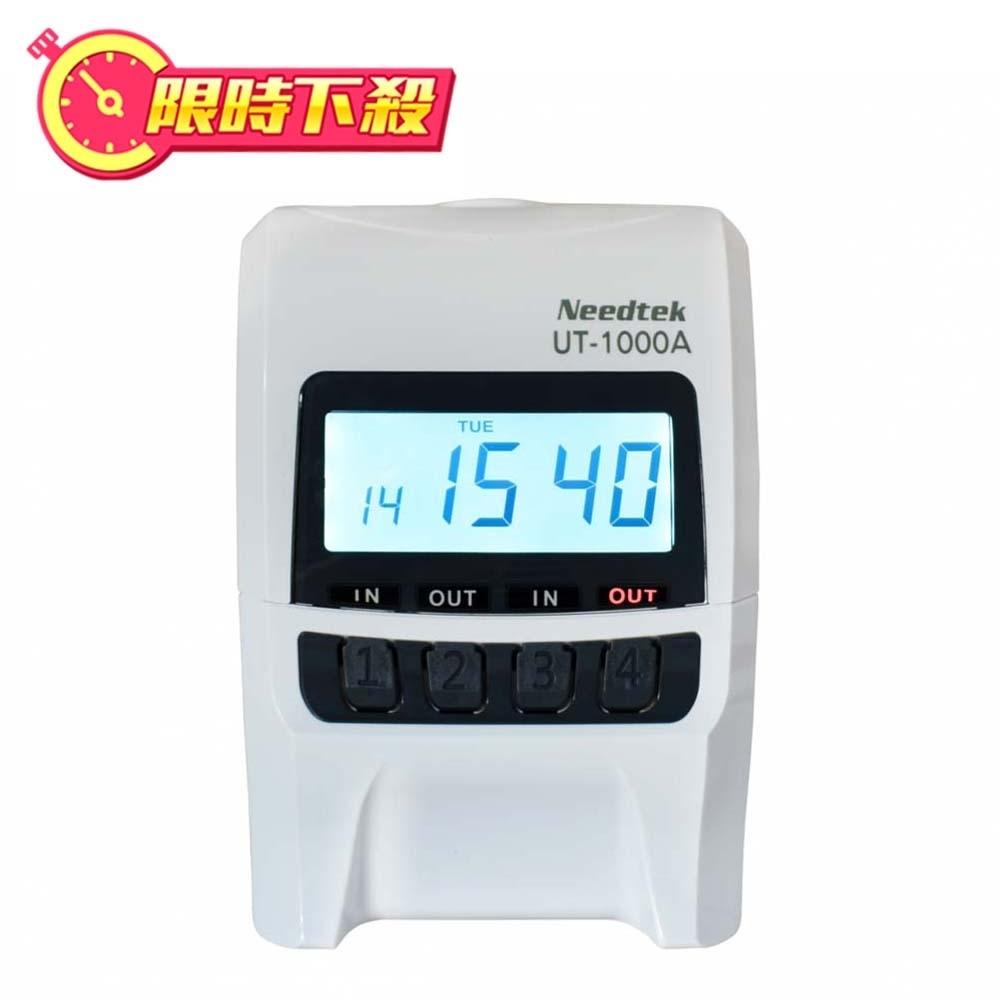 {單機促銷}Needtek優利達 UT-1000 背光款微電腦打卡鐘-時尚黑