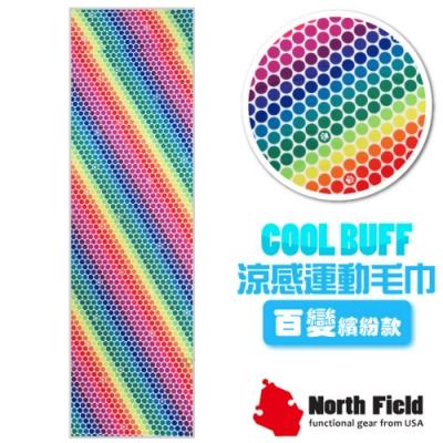 North Field COOL BUFF 百變繽紛款 降溫速乾吸濕排汗涼感運動毛巾_彩虹光點