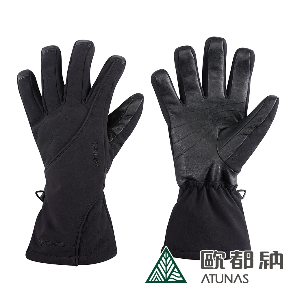 【ATUNAS 歐都納】GORE-TEX科技保溫棉防水防風手套A1AGAA04N黑