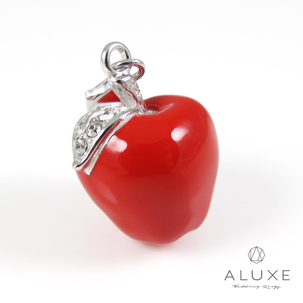 ALUXE亞立詩 Charming系列 925純銀法瑯珠飾-吊飾 大蘋果 Apple