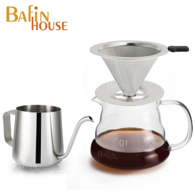 Bafin House雲朵手沖3件組(雲朵壺+濾網+細口壺)