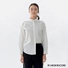 H UNDERSCORE 全新潮牌 男女裝 - 中性款經典素面棉質襯衫 - 白色