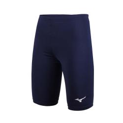 MIZUNO 男女緊身五分褲 短褲-慢跑 路跑 健身 瑜珈 有氧 丈青白