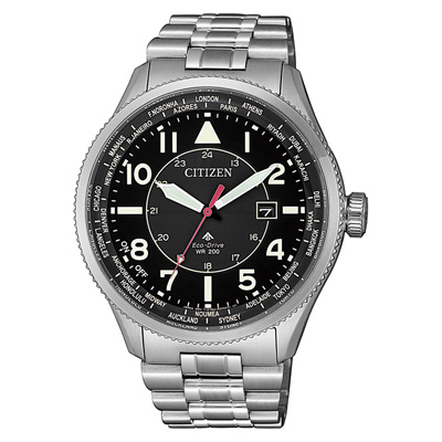 CITIZEN  PROMASTER光動能夏令時節腕錶-銀X黑(BX1010-53E)