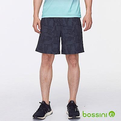bossini男裝-素色彈性短褲暗藍色