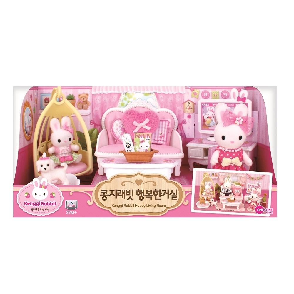 韓國 動物公仔 兔寶家族  - 歡樂客廳組