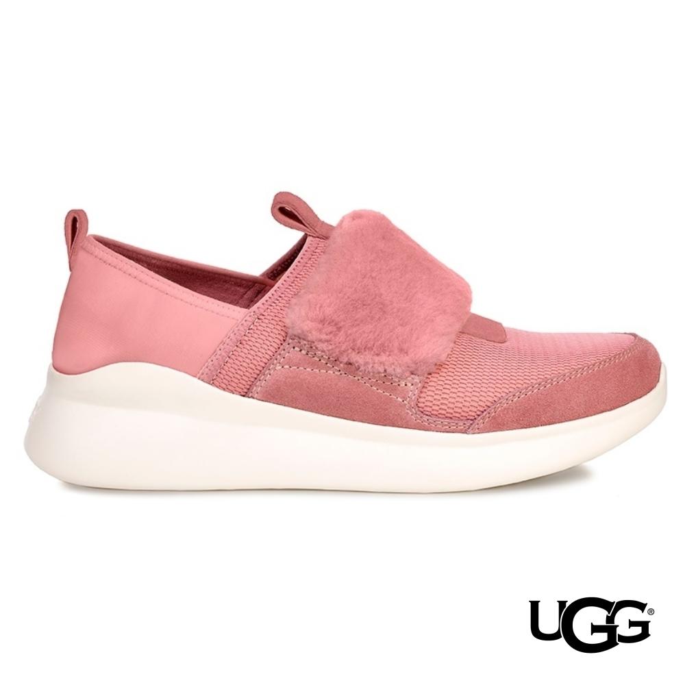 UGG女士 Pico 毛毛真皮拼接休閒鞋