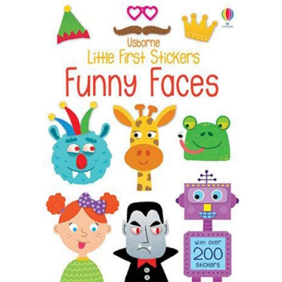 Little First Stickers Funny Faces 臉部表情貼紙書