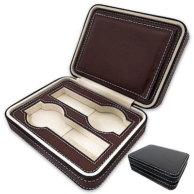 PARNIS BOX│旅行拉鍊包手錶收藏盒【4只入】荔枝紋PU皮革 (皮革12)