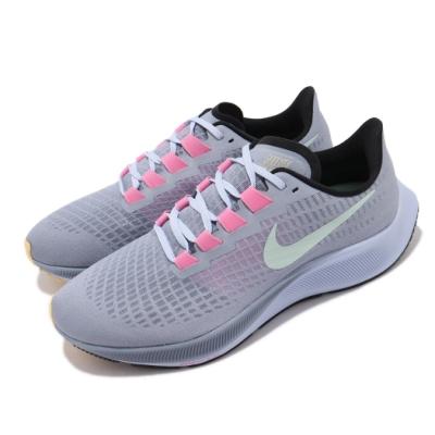 Nike 慢跑鞋 Zoom Pegasus 37 運動 男鞋 氣墊 避震 路跑 透氣 健身 小飛馬 藍 粉 BQ9646401