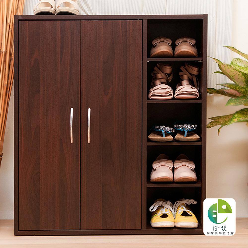 澄境 小資雙門五層鞋櫃/收納櫃/書櫃70.2x31x81cm-DIY