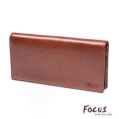 FOCUS經典原皮15卡零錢袋長夾(FTB3696)