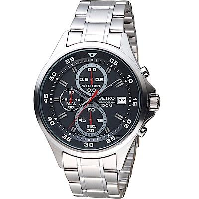 SEIKO精工經典潮流時尚計時腕錶(SKS627P1)-黑