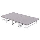 文創集 瑪圖時尚3.3尺亞麻布鐵製單人折合床台(可折合收納)-152x9x114cm免組