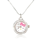 Sanrio三麗鷗 Hello Kitty凱蒂貓精緻水鑽項鍊錶22mm