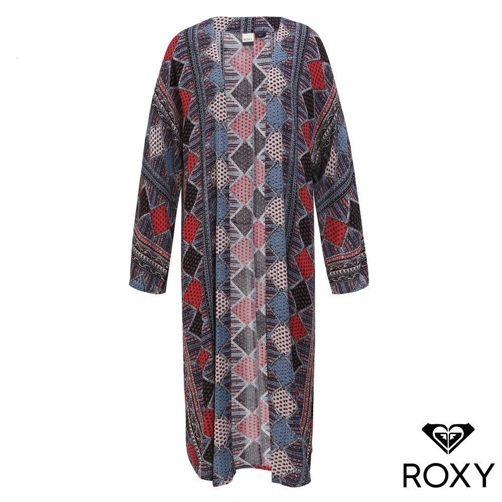 【ROXY】SUMMER BEACH CARDIGAN 民族風絲質罩衫 黑