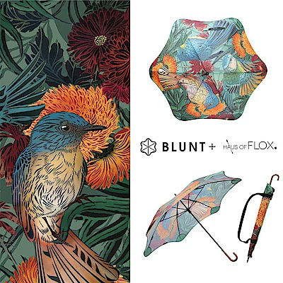 2019 BLUNT + FLOX 限量聯名 LITE3 _ 鳥花園 圖騰 勾勾傘