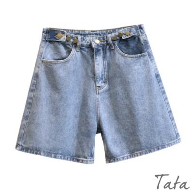 三粒扣反摺牛仔短褲 TATA-(S~L)