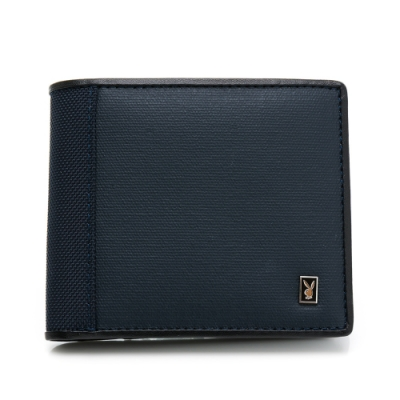 PLAYBOY - 基本短夾-附零錢袋  Navy系列 - 藍色