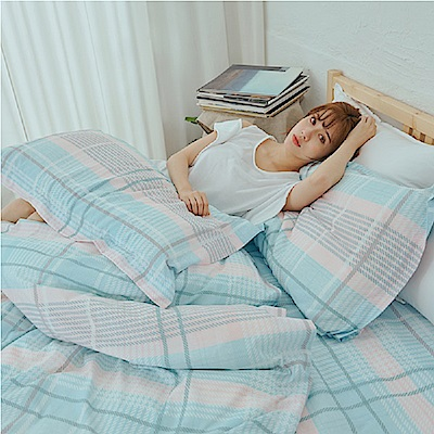 BUHO 雙人三件式床包枕套組(寧和靜美)