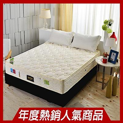 Ally愛麗-三線天絲棉涼感抗菌+高蓬度蜂巢獨立筒床墊-雙人5尺-護腰床本月限定