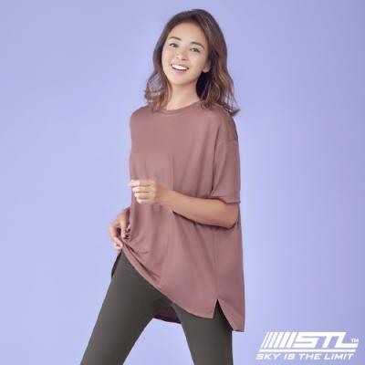 STL yoga Metro NY SS 韓國瑜珈 運動機能 地鐵 蓋臀長版寬鬆短袖上衣 RoseVelvet焦糖玫瑰